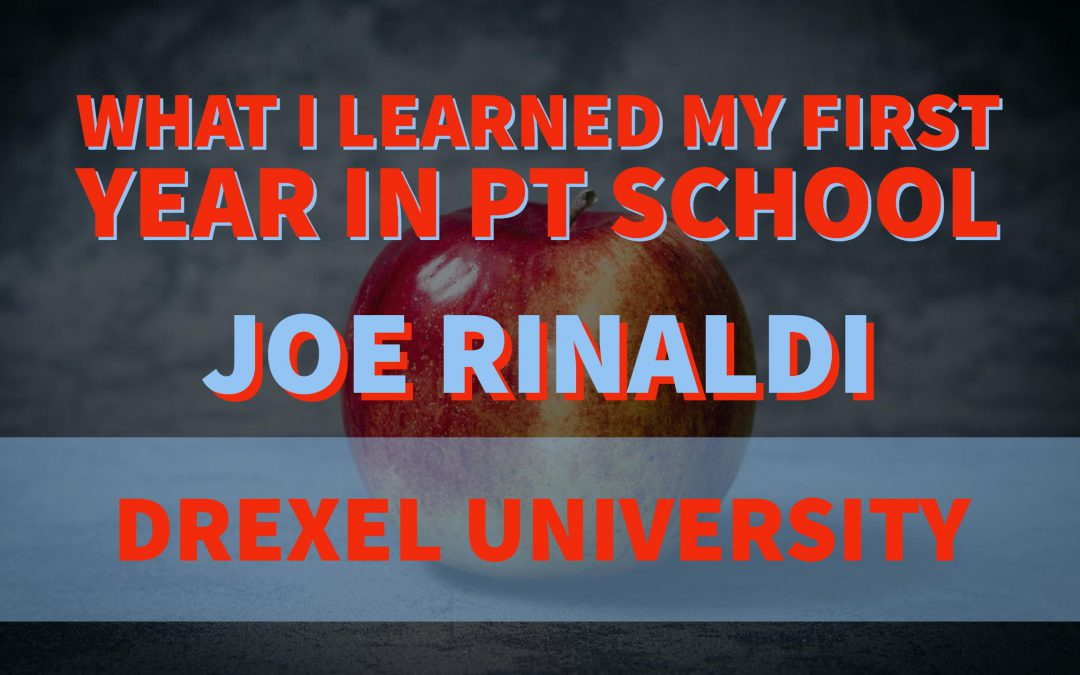 What I Learned My First Year In PTSchoolby Joe Rinaldi